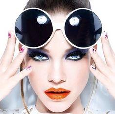 High fashion makeup modeling