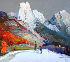 Сияющий мир гор в работах албанского художника Pashk Pervathi - Ярмарка Мастеров - ручная работа, handmade