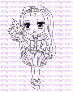 Sello digital Babycakes Digi Stamp página línea por artbymiran