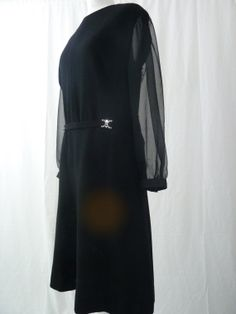 Vintage 1960s dress / 60s black dress / 1960s by JDoraVintage, £38.00