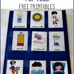 Daily Visual Schedule for Kids Free Printable