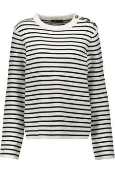 Striped stretch-knit sweater | Maje | US | THE OUTNET