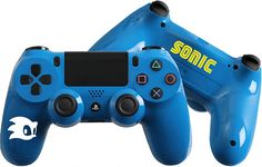Sonic inspired Custom PlayStation 4 Controller #PS4 #Sonic #CustomControllers #Dualshock4 #Touchpad