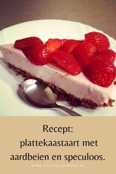 Platters cheese cake with strawberries and a speculoos bottom. Platters cheese cake with strawberries and a speculoos bottom. Yummy Food, Tasty, Strawberry Cakes, Breakfast Dessert, High Tea, Healthy Desserts, Food And Drink, Cooking Recipes, Sweets