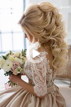 A little inspiration for your wedding hairstyles and bridal hair | Wedding hairstyles for long hair and short hair, for your perfect wedding day #weddinghairstyles Formal Hairstyles, Bride Hairstyles, Down Hairstyles, Pretty Hairstyles, Hairstyle Ideas, Homecoming Hairstyles, 2017 Hairstyle, Teenage Hairstyles, Quinceanera Hairstyles