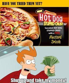 Hot Dog Stuffed Crust
