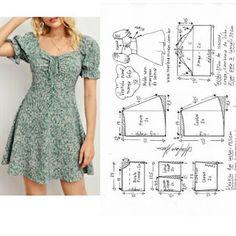 Dress Sewing Patterns, Clothing Patterns, Fashion Sewing, Diy Fashion, Diy Clothes Design, Kleidung Design, Couture Sewing, Sewing Clothes, Pattern Fashion