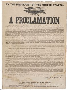 #OnThisDay in 1865, the abolition of slavery was proclaimed in Texas. (Printing of the Preliminary Emancipation Proclamation.)