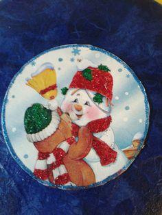 Altered cd natale decoupage i miei lavoretti christmas ornaments christmas e ornaments - Decoupage su mobili vecchi ...