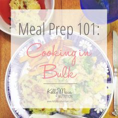 Want to save time? Learn how to meal prep! | Kelly Maia Nutrition