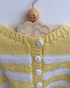 Baby Cardigan from the 70s Vintage Baby Jumper in by ElleBelleVin