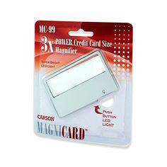 Carson MagniCard 3x LED Lighted Magnifier (MC-99) Carson http://www.amazon.com/dp/B000KSS9QY/ref=cm_sw_r_pi_dp_ZnYLub0SQV3AC