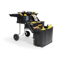 Rolling Tool Box Garage Workshop Mobile Chest Portable Storage Cart Organizer for sale online Dewalt Tool Box, Dewalt Tools, Portable Tool Box, Portable Garage, Tool Box Storage, Garage Storage, Dewalt Storage, Trailer Storage, Art Storage