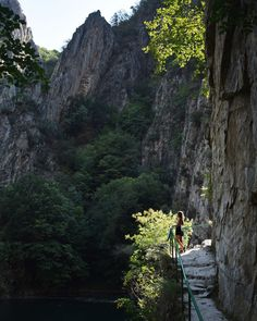 If you are spending a few days in Skopje, visiting Canyon Matka is also a must! You can take a walk along the rock walls to the small monastery, enjoy a coffee in the hotel nearby, go on a boat cruise - or explore the canyon with kayak just like we did. Of course it's worth to come here in the early morning hours before this place gets crowded. #skopje #macedonia #canyonmatka Macedonia, Early Morning, The Rock, Kayaking, Cruise, Country Roads, Walls, Boat, Explore