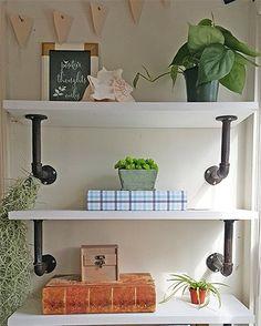 DIY+Industrial+Shelves