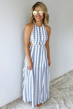 Gracefully Yours Maxi: Blue/White