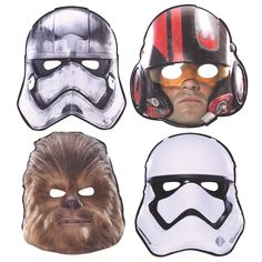 Use paper character masks of your guests' favorite characters from Star Wars: The Force Awakens to get your party guests in the right mood. You're their only hope.