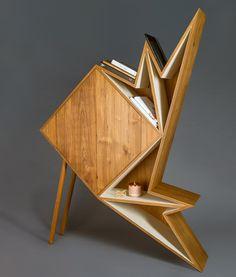 aljoud-lootah-oru-geometric-furniture-design :: cabinet comprises an exposed shelving unit