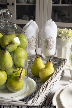pears in a bell jar / cloche