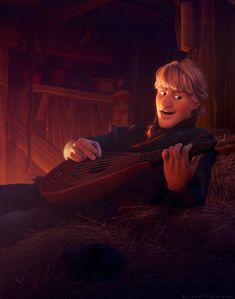 "Then when he warmed up and started playing the MANDOLIN. Oh god. *SWOON* | For Everyone That Is Attracted To Kristoff From ""Frozen"""