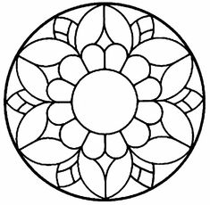 Stained Glass Patterns, Mosaic Patterns, Stained Glass Art, Dot Art Painting, Pottery Painting, Mandala Coloring Pages, Colouring Pages, Mandala Pattern, Pattern Art