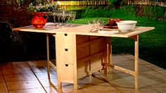 Hágalo Usted Mismo - ¿Cómo construir una mesa abatible?
