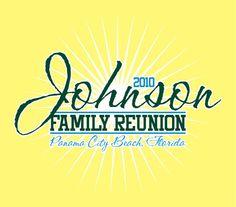 Johnson Family Reunion T-shirt by Marshall Atkinson, via Behance