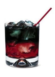 Black Widow: black vodka cocktail