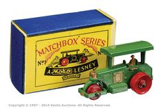 Matchbox Regular Wheels No.1A Aveling Barford Road Roller | Vectis Toy Auctions
