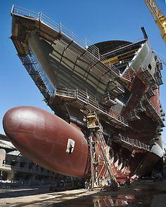 """""""MSC Divina"""" byMartin Argyroglo CHANTIERS NAVALS DE SAINT-NAZAIRE / Le futur MSC Divina (le nouveau paquebot de MSC Cruises) [via]"""