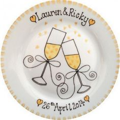 Gold 50th Wedding Anniversary Personalised Plate - £32.95.