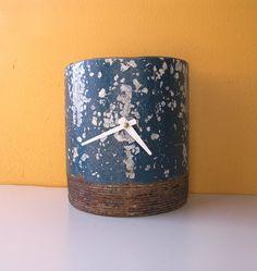 Metal Art Clock Industrial Decor  Art Clock made from by PaulaArt, $45.00