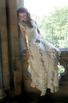 wool knit wedding dress