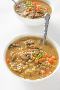Hearty and comforting, healthy and low-calorie - this vegetarian Ultimate Mushroom Soup recipe is the only one you'll ever need!