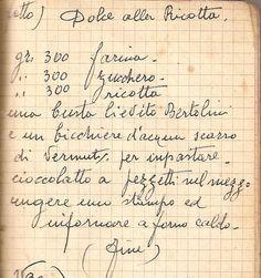 Clicca qui per ingrandire Italian Cake, Italian Cookies, Old Recipes, Sweet Recipes, Recipies, Mini Desserts, Delicious Desserts, Ricotta Cake, Sicilian Recipes