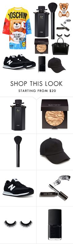 """""""BLACC MOSCHINO"""" by fentys ❤ liked on Polyvore featuring Moschino, Gucci, Laura Mercier, NARS Cosmetics, rag & bone, New Balance, Bobbi Brown Cosmetics and Givenchy"""
