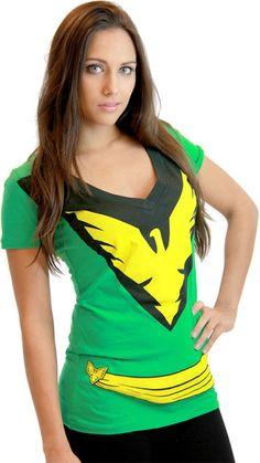 Commemorate your favorite cult classic with an awesome Marvel X-Men Phoenix Deep V-Neck Juniors Costume T-Shirt . Free shipping on X-Men orders over $50.
