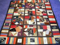 """Antique American Victorian Crazy Quilt.  The quilt is 48"""" x 57"""" and is small enough to make an excellent wall tapestry.  It has a fully stitched border and padded backing.  According to the current owner it was the heirloom of a single family prior to this sale."""
