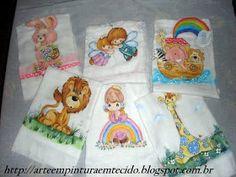 pintura em tecido infantil fraldas para bebe