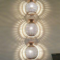 Basket lighting in Fiji Basket Lighting, Wall Lights, Ceiling Lights, Fiji, Joinery, Sconces, Interior Design, Home Decor, Carving