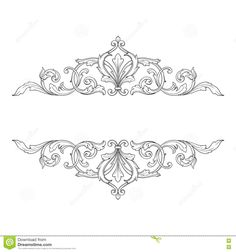 Vintage Baroque Frame Engraving Scroll Ornament Stock Vector - Illustration of deco, line: 76395020 - Welcome to our website, We hope you are satisfied with the content we offer. Islamic Art Pattern, Pattern Art, Pattern Design, Retro Pattern, Baroque Tattoo, Filigree Tattoo, Vintage Design, Design Baroque, Baroque Frame