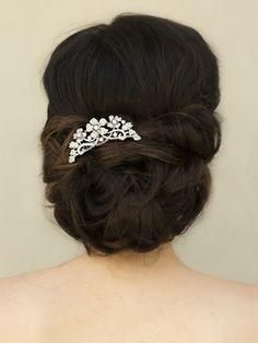 "Classic Flower Rhinestone Bridal Hair Comb ~ ""Paulina"" Bridal Hair Accessories, Wedding Headpieces, Bridal, Wedding, Hair Accessories, Headpieces, Combs, Clips, Hair Pins, Flowers, Headbands, Tiaras, Jewelry, Vintage, Beach - Hair Comes th"