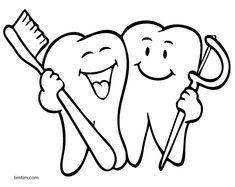 Çocukla Çocuk Olun: Sağlıklı Dişler Boyama Sayfaları