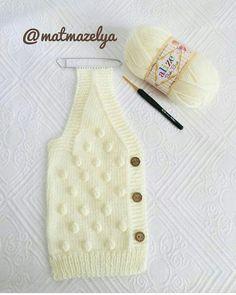 Very Easy and Very Stylish Illustrated Expression Knitted Baby Vest - Bebek yelek - Baby Baby Knitting Patterns, Baby Clothes Patterns, Knitting For Kids, Hand Knitting, Crochet Patterns, Knitting Needles, Diy Crafts Knitting, Diy Crafts Crochet, Baby Cardigan