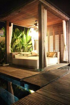 cabana/pergola seating areas