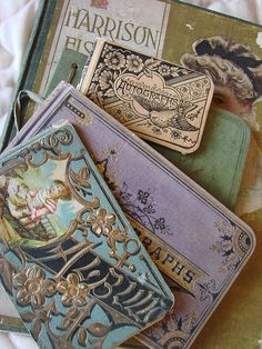 Great-Granny's Vintage Colored Autograph Books