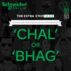 How many hindi movie songs can you recall with the words 'chal' or 'bhag'?? Hurry, comment on FB page to win #TheExtraStep