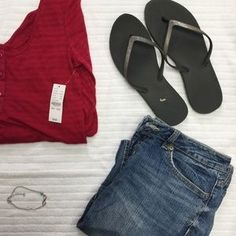 I just discovered this while shopping on Poshmark: NWT Red Pac Sun Shirt - Kira Brand. Check it out! Price: $13 Size: M
