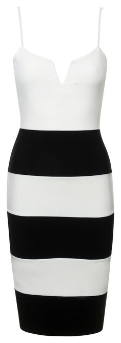 ace8ee5b066 Women s white black stripe v-neck bodycon casual dress