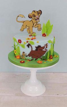 Lion King Birthday Christening Cake